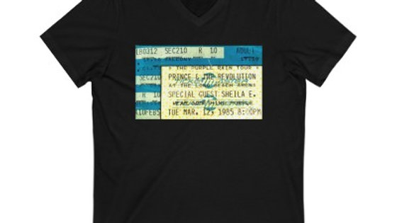Prince with Sheila E Concert Unisex Jersey V-Neck Tee
