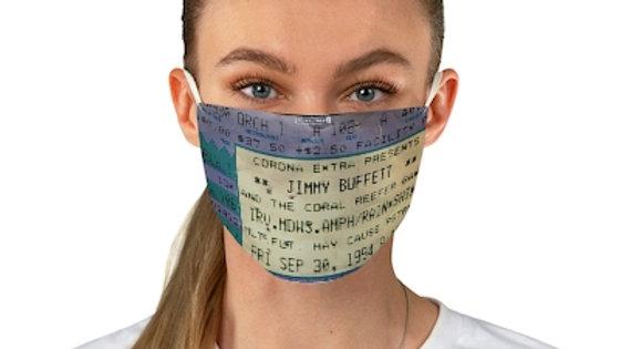 Jimmy Buffett Concert Ticket Face Mask