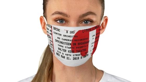 Bruce Springsteen on Broadway Concert Face Mask