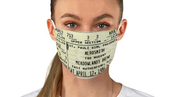 Aerosmith Concert Ticket Face Mask