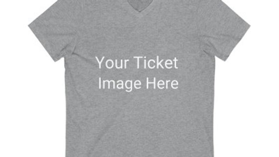 Custom Ticket Unisex Jersey V-Neck Tee
