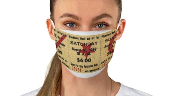 Woodstock Concert Ticket Face Mask