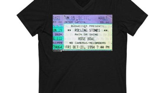 Rolling Stones Concert Unisex Jersey V-Neck Tee