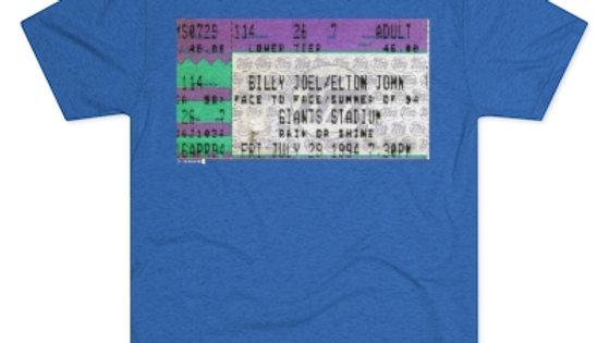 Billy Joel / Elton John Concert Men's Tri-Blend Crew Tee