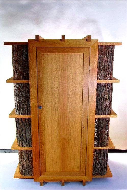 armoire en chêne et écorce de chêne