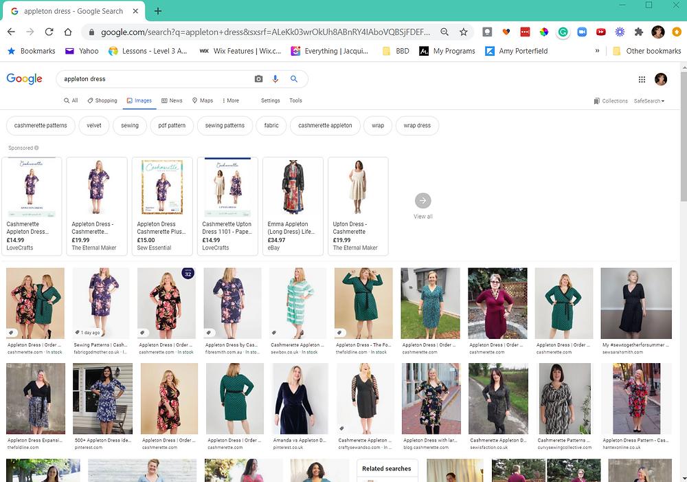 Google Search Images Tab for Cashmerette Appleton Dress