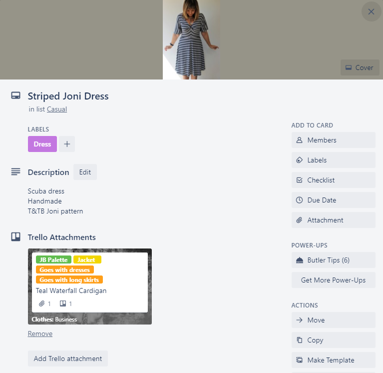 Trello cards allow you to store images, descriptions and links to other cards.