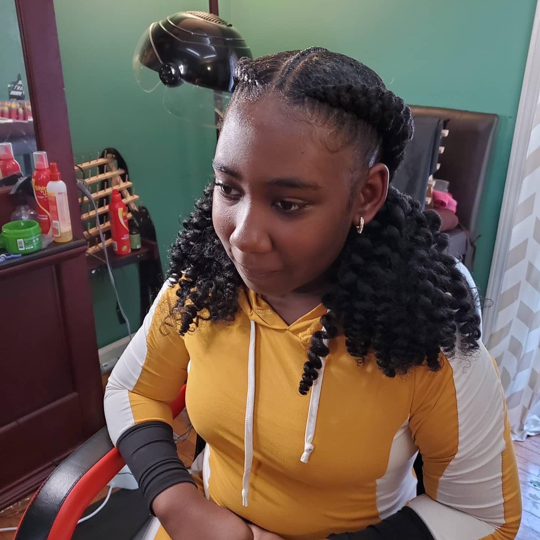 2 jumbo princess braids