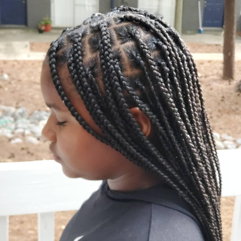 kids knotless braids