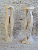 Colonnades tournées en érableH 26cm38f