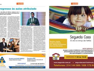 """Regresso às aulas no Jornal """"Notícias de Oeiras nº 20"""""""