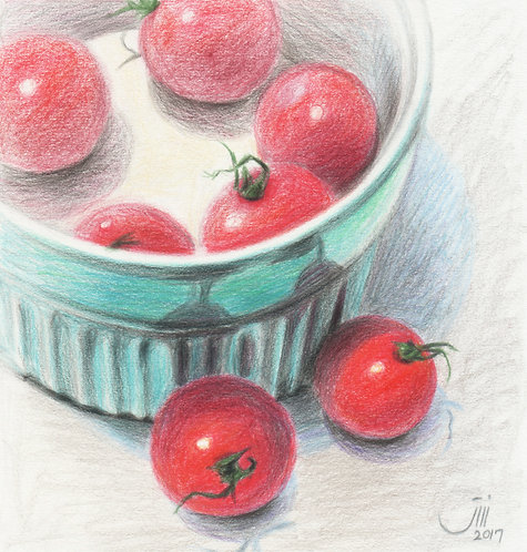 No.70,Composition with some mini tomatoes