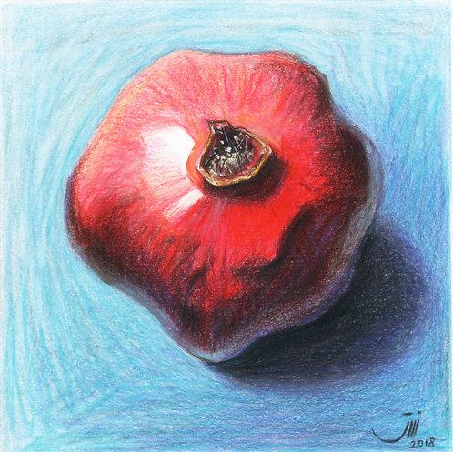 No.104, A Pomegranate and Blue