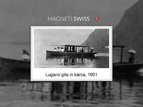 Lugano gita in barca, 1901