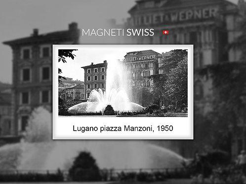Lugano piazza Manzoni, 1950