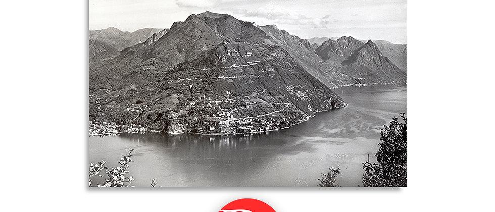 Lago di Lugano, monte Brè 1910