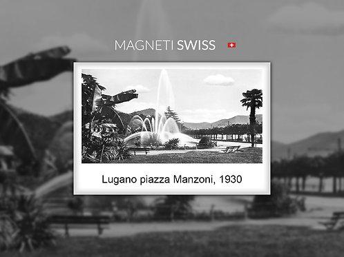Lugano piazza Manzoni, 1930