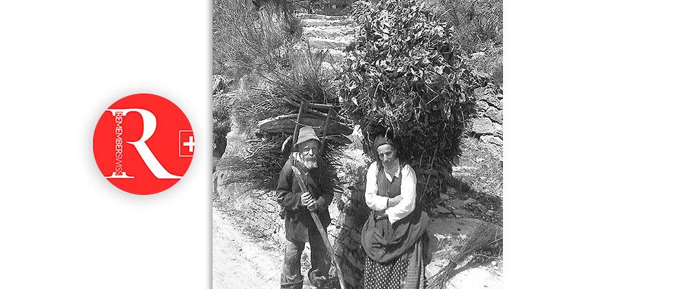 Contadini in posa, 1900