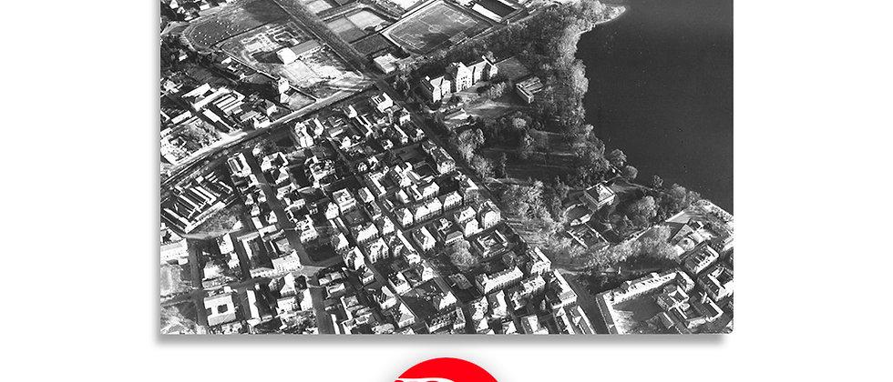 Lugano veduta Aerea - Villa Ciani-Campo Sportivo-Vecchio Kursaal-Lido - 1945