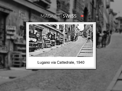 Lugano via Cattedrale, 1940