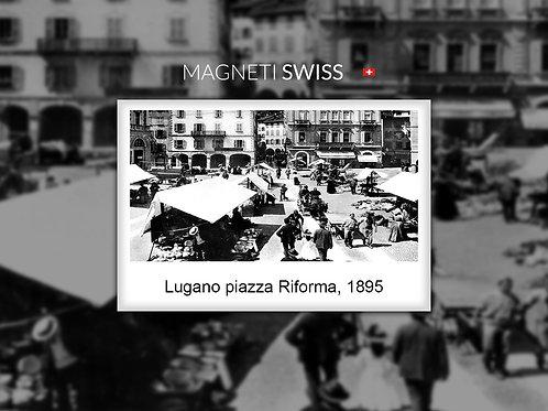 Lugano piazza Riforma, 1895
