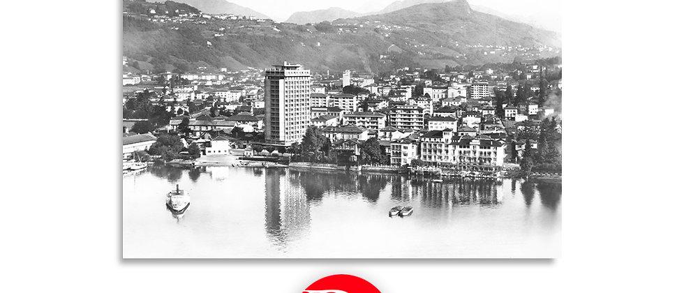 Cassarate - Lugano / foto aerea 1955