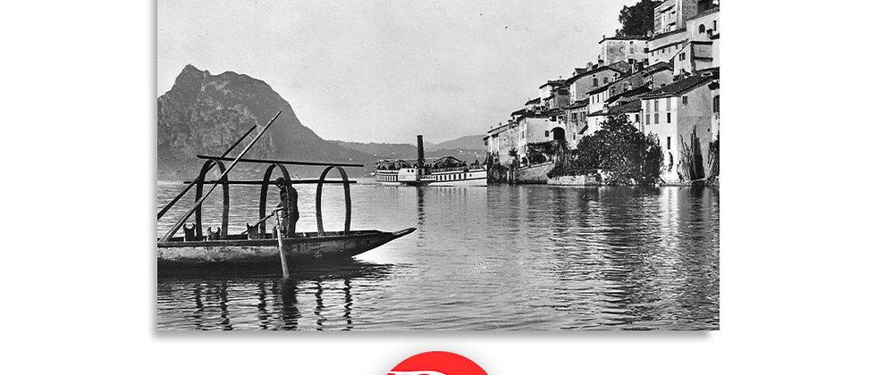 Gandria lago di Lugano fine 800'