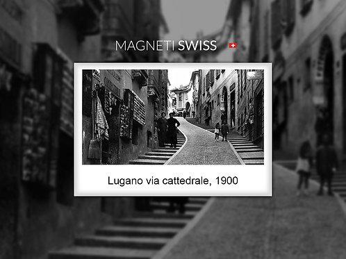 Lugano via Cattedrale, 1900