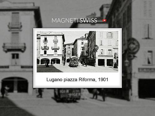 Lugano piazza Riforma, 1901