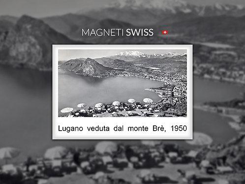 Lugano veduta dal monte Brè, 1950