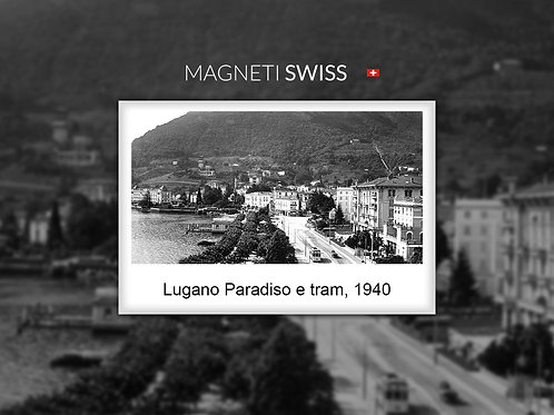 Lugano Paradiso e tram, 1940