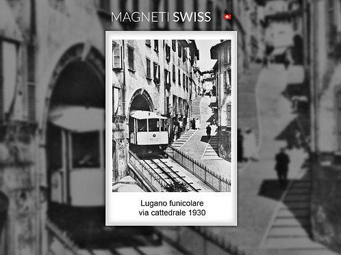 Lugano funicolare via cattedrale, 1930