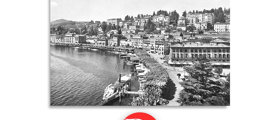 Lugano piazza Riforma e battello 1940