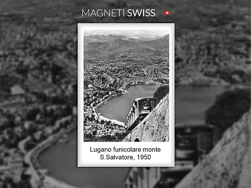 Lugano funicolare monte S.Salvatore, 1950
