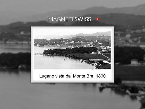 Lugano vista dal Monte Brè, 1890