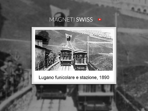 Lugano funicolare e stazione, 1890