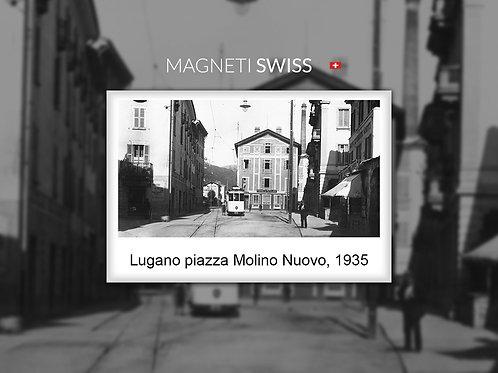 Lugano piazza Molino Nuovo, 1935