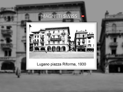 Lugano piazza Riforma, 1930