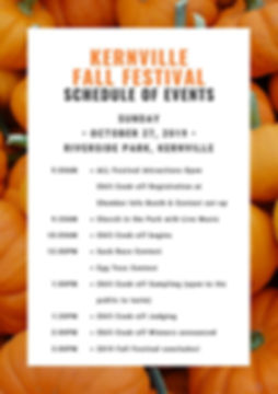 Kernville Fall Festival Schedule Day 2.j