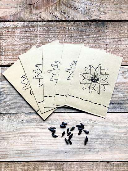 Sunflower Seed Collection Packets