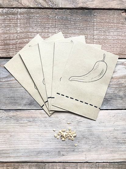 Chilli Seed Collection Packets