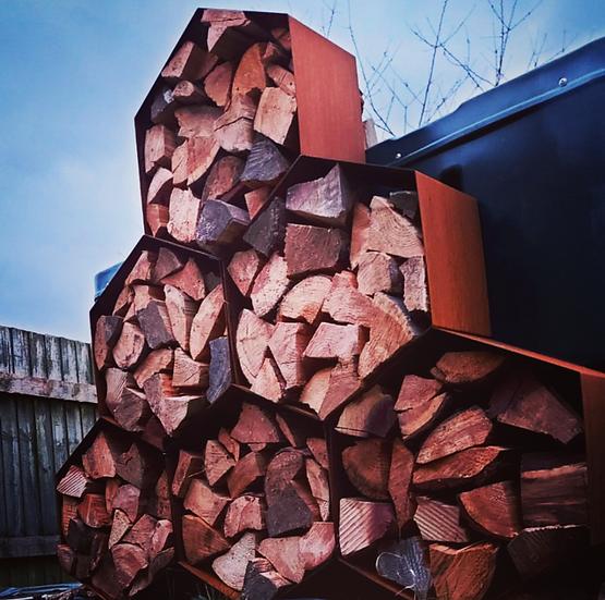 Wood Hive Log Store