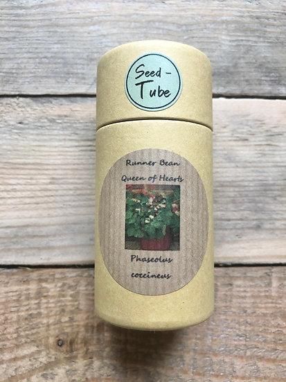 Seed Tube Vegetables - Runner Bean Queen of Hearts