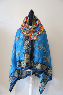 Leso with Masai Jewellery