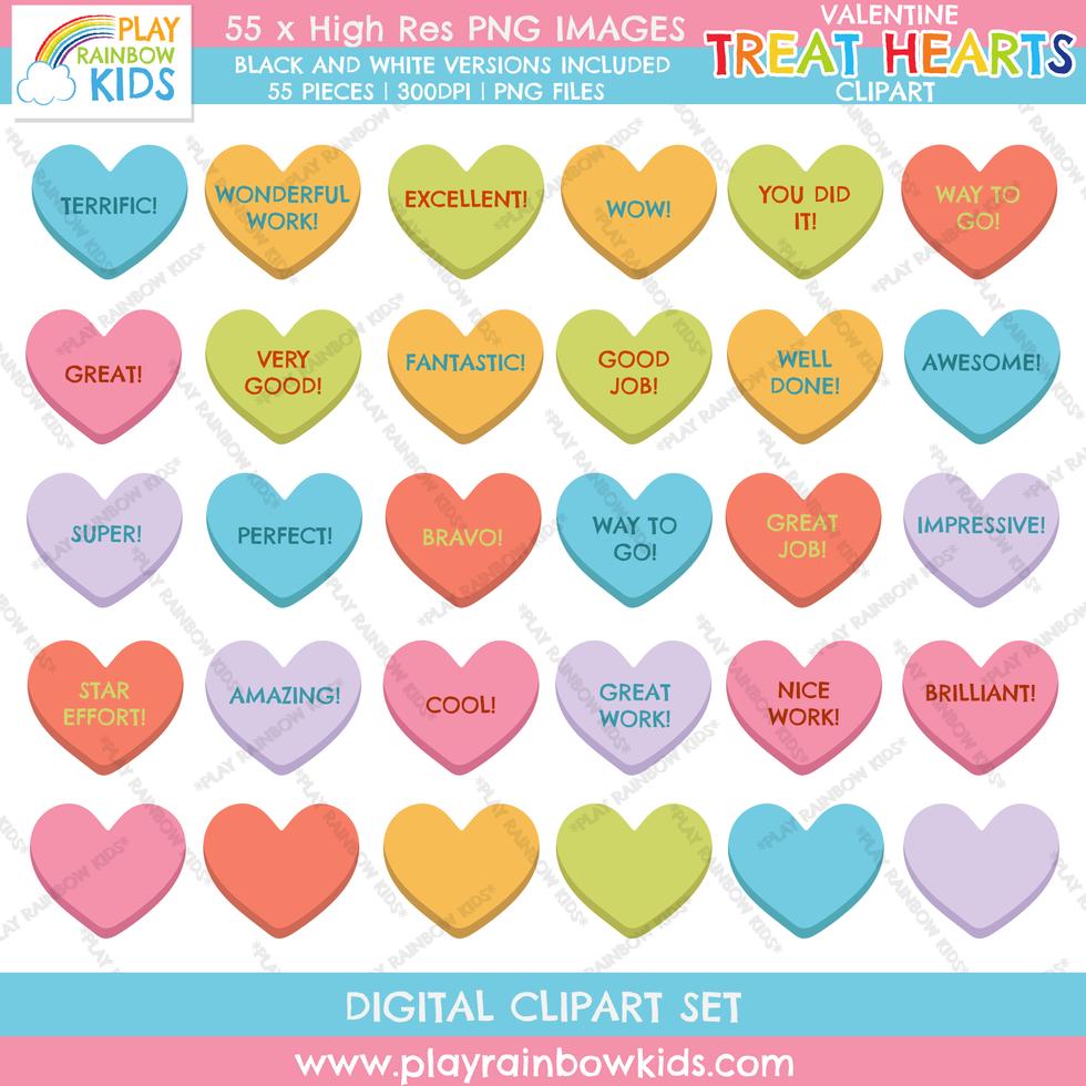 Play Rainbow Kids Motivational Treat Hearts