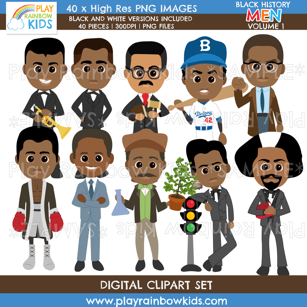 Play Rainbow Kids Black History Men Volume 1