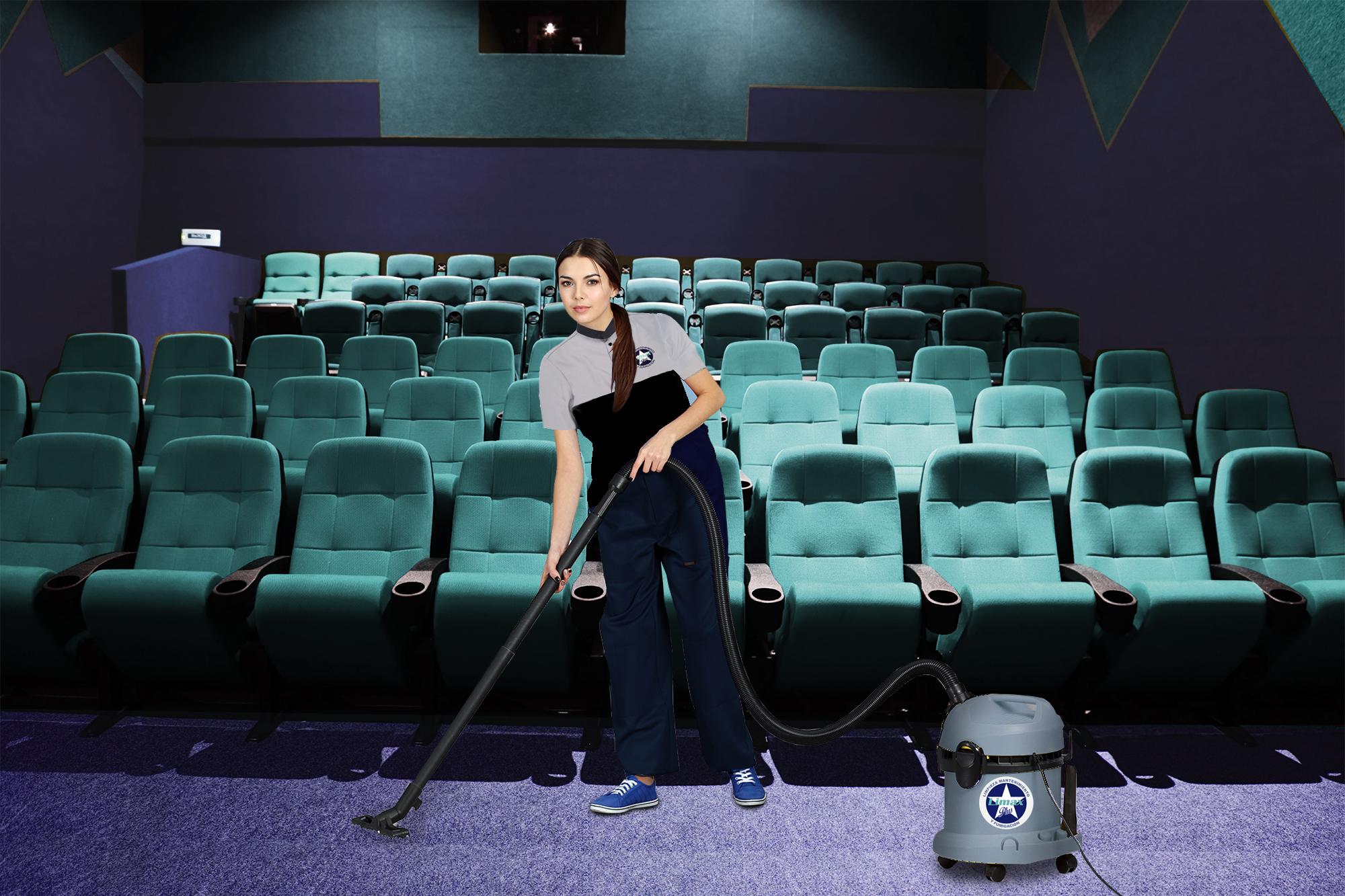 Limpieza en cines, teatros, etc