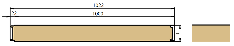 Панель ПСБ с гладкой поверхностью облицовки