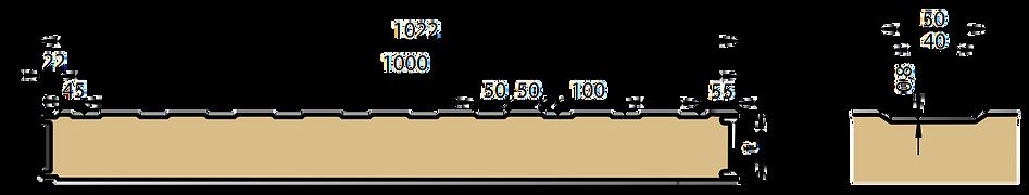 Панель ПСБ с S-образным профилем облицовки