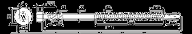 Саморезы для сэндвич панелей HWX12 – P16 – 6.3 / 5.5